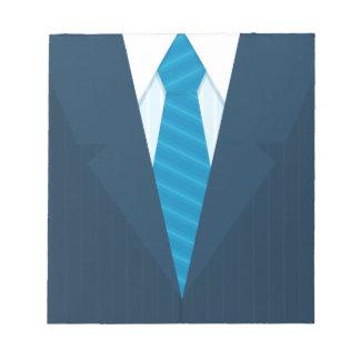 Business suit & tie notepads