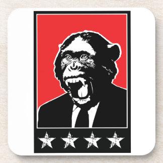 Business Suite Chimpanzee Beverage Coaster
