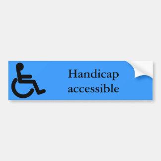 Business Supplies Handicap Sticker