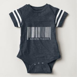 Business Teacher Barcode Baby Bodysuit