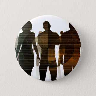 Business Team of Professionals Standing for Career 2 Inch Round Button