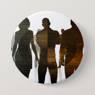 Business Team of Professionals Standing for Career 3 Inch Round Button