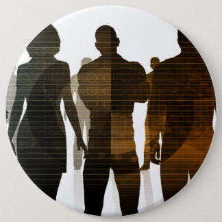 Business Team of Professionals Standing for Career 6 Inch Round Button