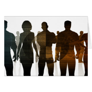 Business Team of Professionals Standing for Career Card