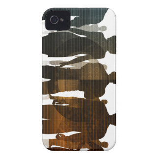 Business Team of Professionals Standing for Career Case-Mate iPhone 4 Case