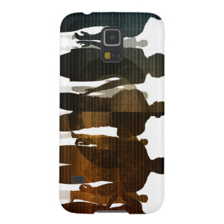 Business Team of Professionals Standing for Career Galaxy S5 Cases