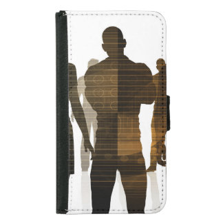 Business Team of Professionals Standing for Career Samsung Galaxy S5 Wallet Case