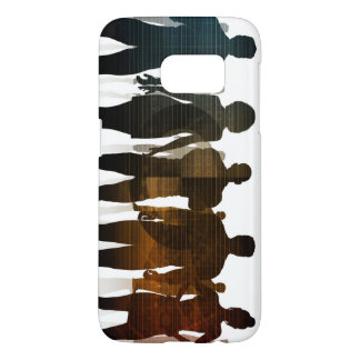 Business Team of Professionals Standing for Career Samsung Galaxy S7 Case