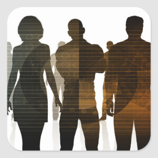 Business Team of Professionals Standing for Career Square Sticker