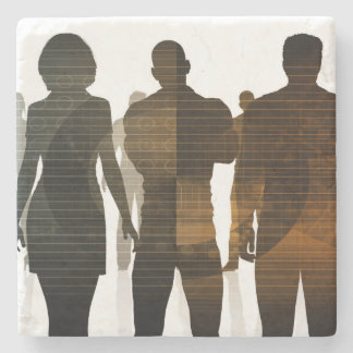 Business Team of Professionals Standing for Career Stone Coaster