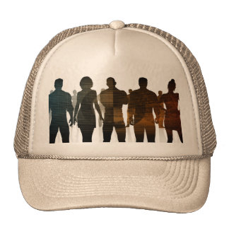 Business Team of Professionals Standing for Career Trucker Hat