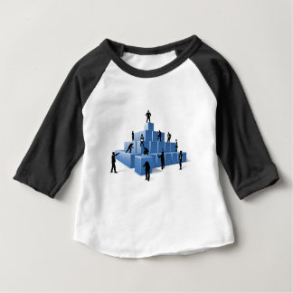 Business Team People Silhouettes Building Blocks Baby T-Shirt