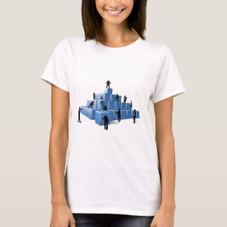 Business Team People Silhouettes Building Blocks T-Shirt