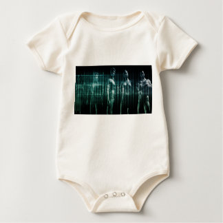 Business Team with Serious Expression Baby Bodysuit