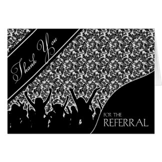 Business Thank You for the Referral Black Card