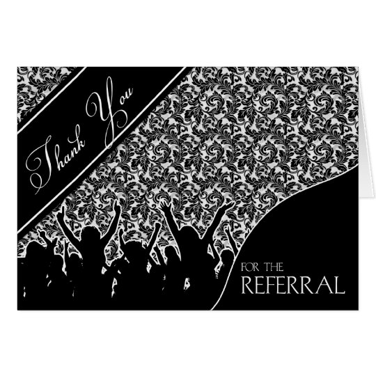 Business thank you for the referral black card zazzleca for Zazzle referral cards