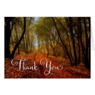 Business Thank You - Woodland Path Greeting Card