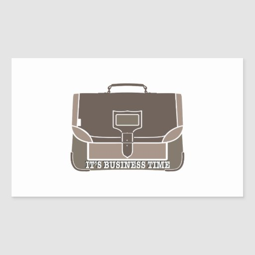 Business Time Rectangular Stickers