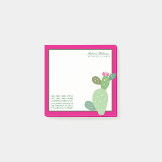 Business | Watercolor Cactus Post-it Notes