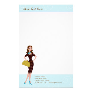 Business Woman Stationery