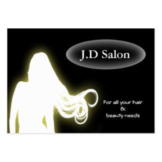 Businesscards de salon de coiffure carte de visite grand format