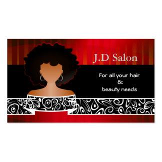 Businesscards de salon de coiffure carte de visite standard