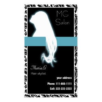 Businesscards et rendez-vous de salon d'Aqua Carte De Visite Standard
