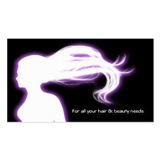 businesscards pourpres de salon de coiffure carte de visite standard