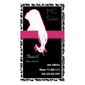 Businesscards roses de salon carte de visite standard
