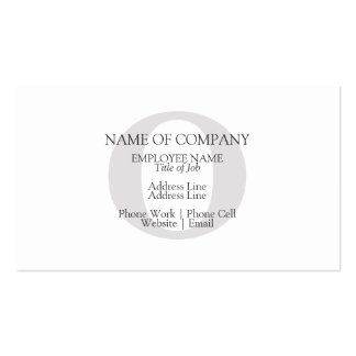 BusinessCards With Monograms  Profile Cards Business Card Templates