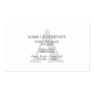 BusinessCards With Monograms  Profile Cards Business Cards