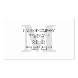 BusinessCards With Monograms  Profile Cards Business Card Template
