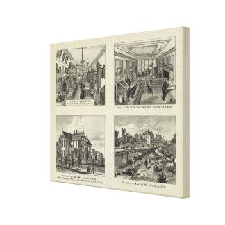 Businesses and Residences, Abilene, Kansas Canvas Print