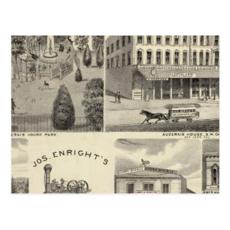 Businesses, San Jose, Santa Clara Postcard