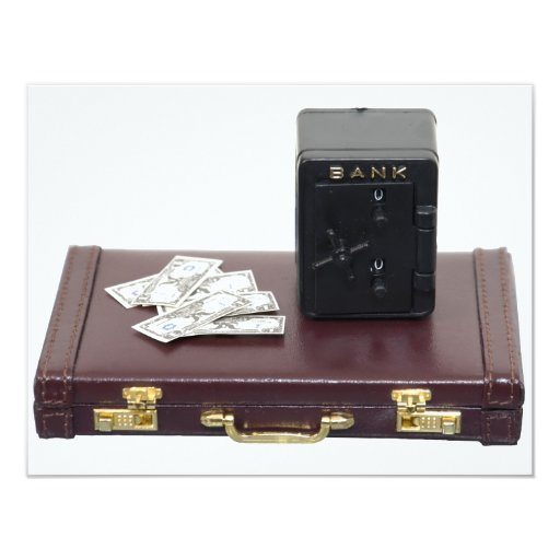 "BusinessFinancesA070109 4.25"" X 5.5"" Invitation Card"