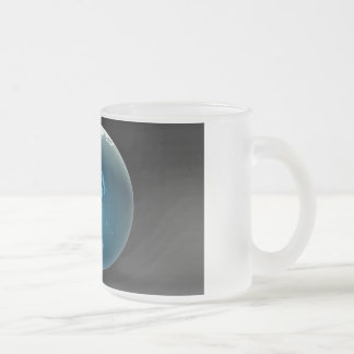Businessman Pointing at Australia or New Zealand Frosted Glass Mug
