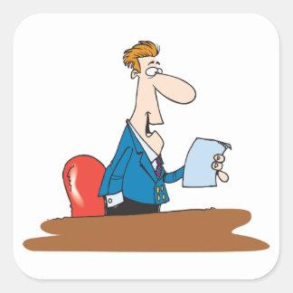 Businessman Reading Stickers