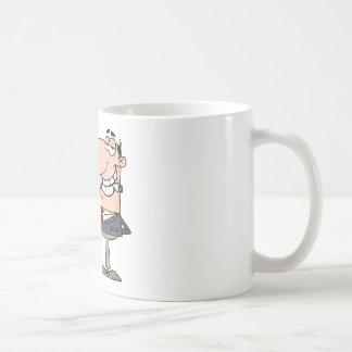 Businessman Shows Big Dollar Coffee Mug
