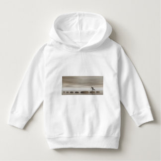 businessman that runs on steps grey - 3D rendering Hoodie