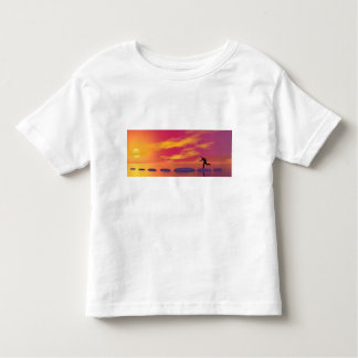 businessman that runs on steps grey - 3D rendering Toddler T-shirt