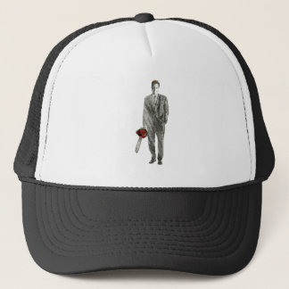 Businessman with Chain Saw Trucker Hat