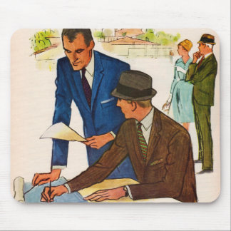 businessmen doing business mouse pad