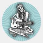 Busker Bones II Classic Round Sticker