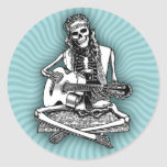 Busker Bones II Round Sticker