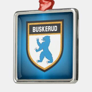 Buskerud Flag Metal Ornament