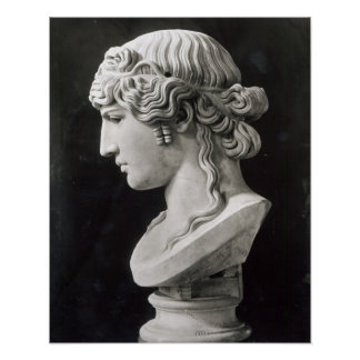 Bust of Antinous  called 'Antinous Mondragone' Poster