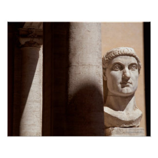 Bust of Constantine, Palazzo dei Conservatori Poster