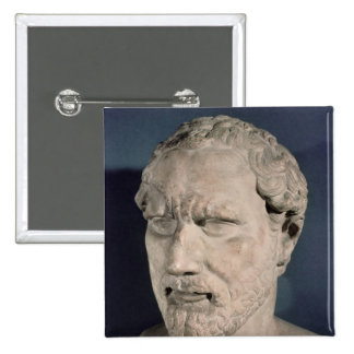 Bust of Demosthenes 2 Inch Square Button