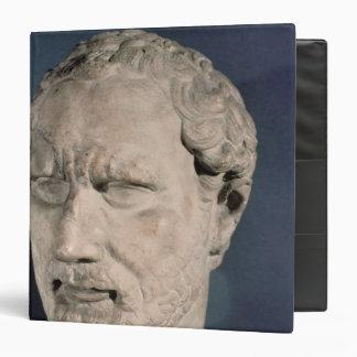 Bust of Demosthenes 3 Ring Binder