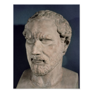 Bust of Demosthenes Poster